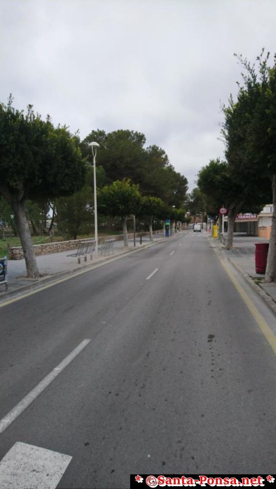 Strandpromenade in Santa Ponsa - im Winter sehr ruhig