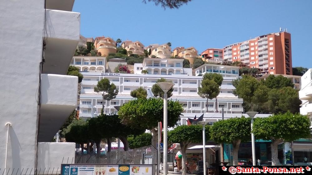 Hotel Sun Beach in Santa Ponsa - zum Strand 100 Meter