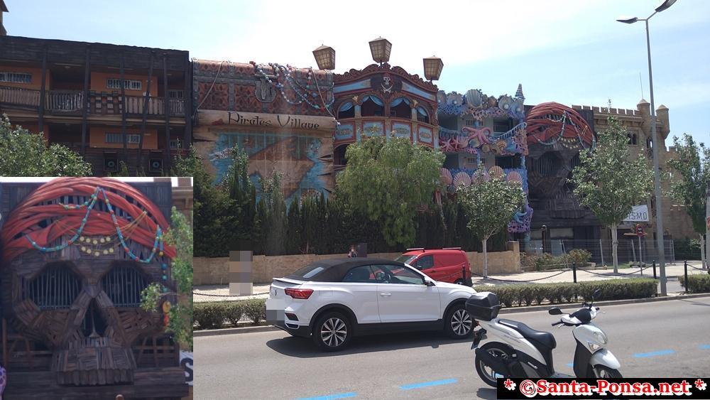 Hotel Pirates Village - Santa Ponsa -  Avenida Rei Jaume I (Hauptstraße nach hinten raus sehr ruhig)