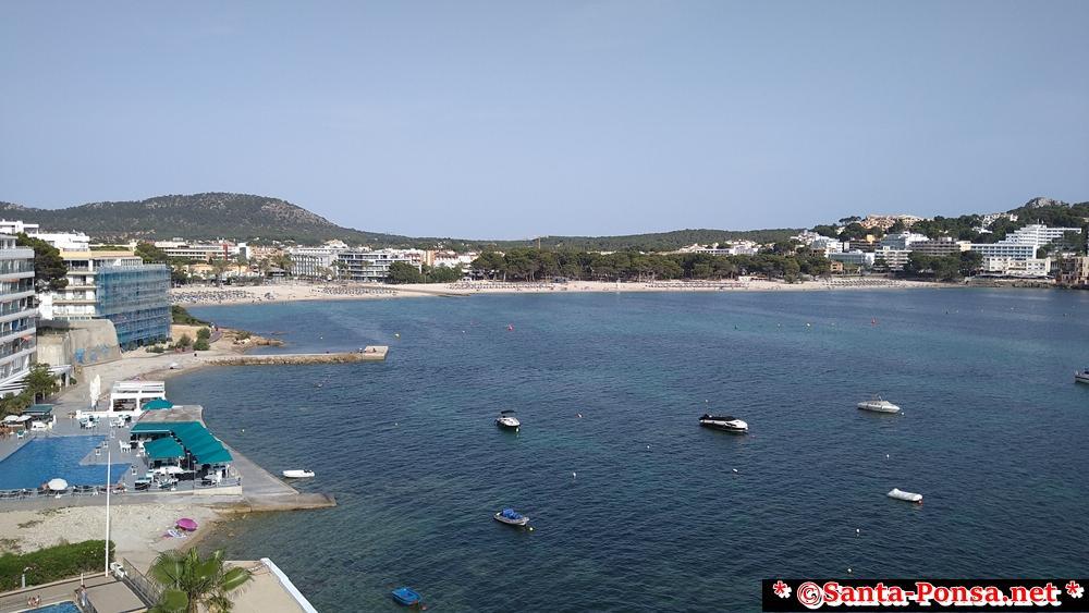 Blick zum großen Strand von Santa Ponsa