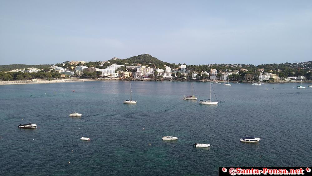 Blick über die Bucht von Santa Ponsa