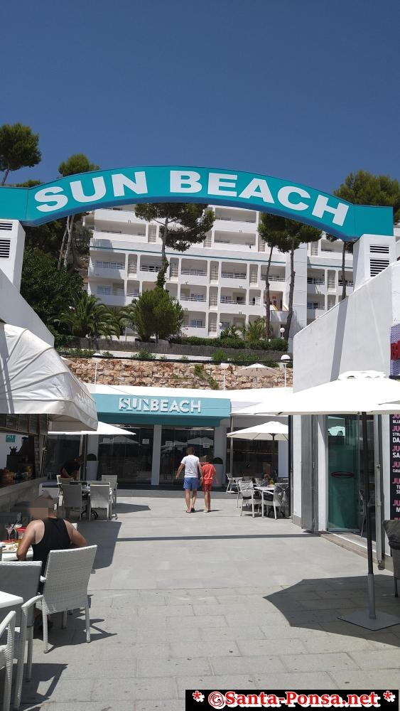 Eingang Hotel Sun Beach Santa Ponsa Mallorca